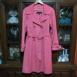 Jones New York Pink Trench Coat